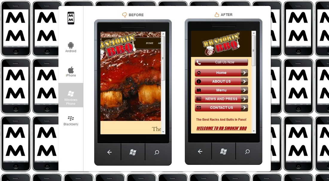 mobile website before and after its mobilized